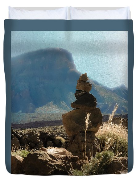 Volcanic Desert Composition Duvet Cover by Loriental Photography