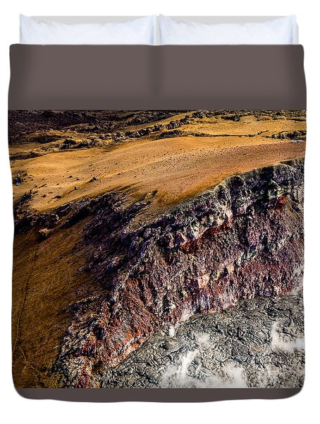Duvet Cover featuring the photograph Volcanic Ridge II by M G Whittingham