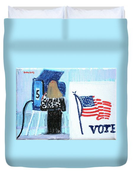 Voting Booth 2008 Duvet Cover by Candace Lovely
