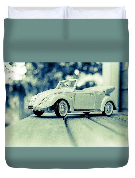 Vw Beetle Convertible Duvet Cover by Jon Woodhams