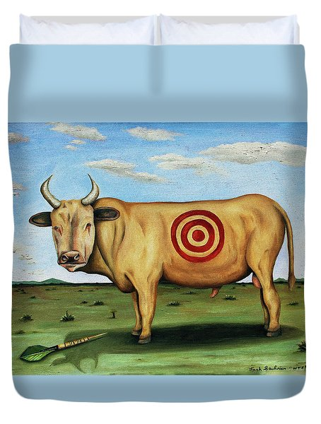 W T F Duvet Cover by Leah Saulnier The Painting Maniac