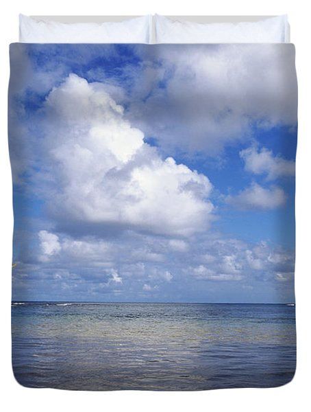 Wading to Outrigger Duvet Cover by Joss - Printscapes