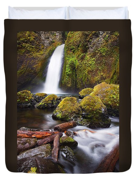 Wahclella Duvet Cover by Mike  Dawson