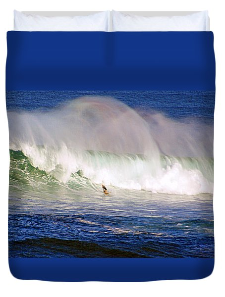 Waimea Bay Wave Duvet Cover by Kevin Smith