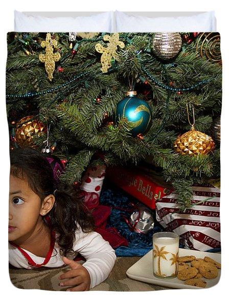 Waiting For Santa Duvet Cover by Sri Maiava Rusden - Printscapes