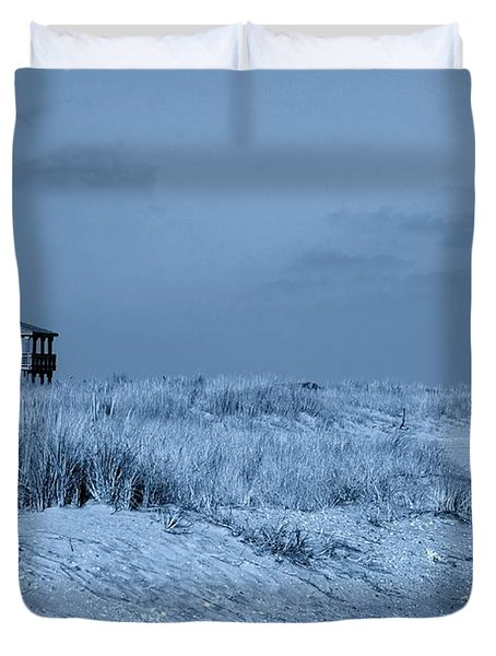 Waiting For Summer - Jersey Shore Duvet Cover by Angie Tirado