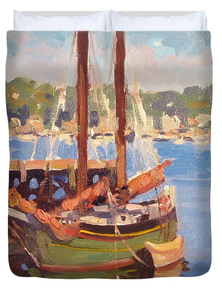 Waiting For Sunset Duvet Cover by Dianne Panarelli Miller