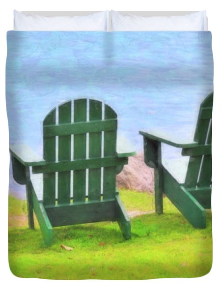 Waiting For You Duvet Cover by Betty LaRue