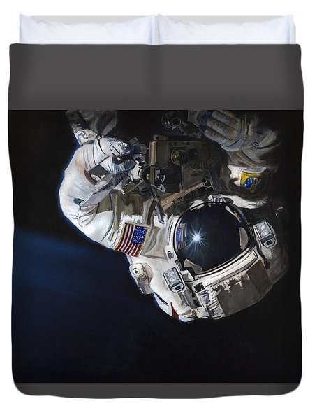 Walk Into Darkness  Duvet Cover by Simon Kregar