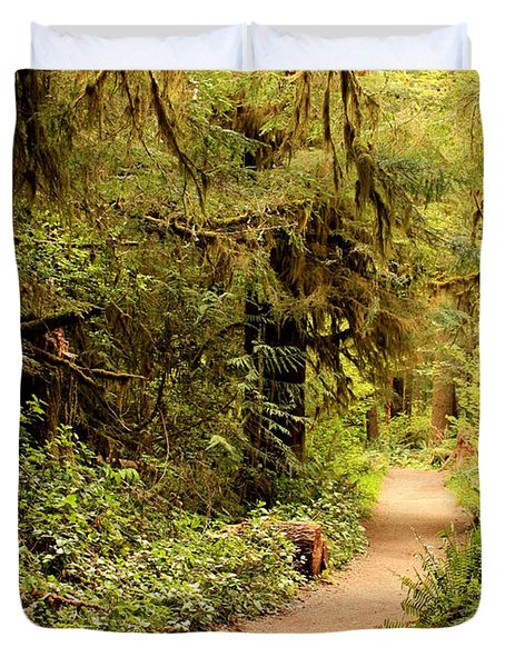 Walk Into The Forest Duvet Cover by Carol Groenen
