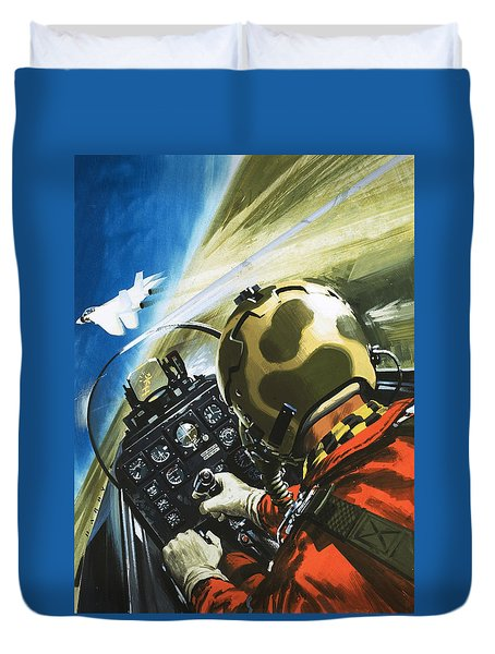 War In The Air Duvet Cover by Wilf Hardy