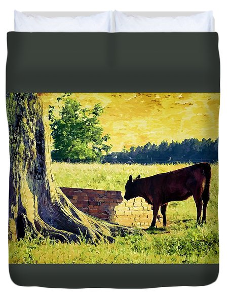 Warming Up In The Morning Glow Duvet Cover by Jan Amiss Photography