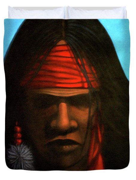 Warrior Duvet Cover by Lance Headlee