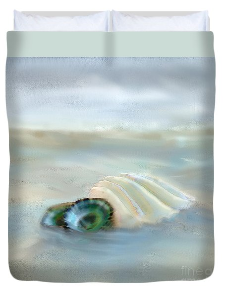 Washing Away Duvet Cover by Betty LaRue