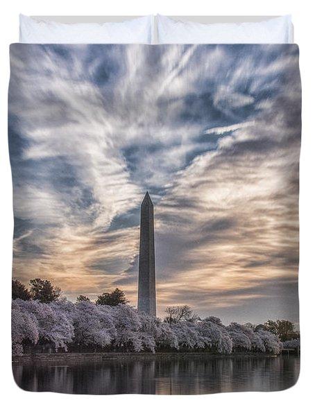 Washington Blossom Sunrise Duvet Cover by Erika Fawcett