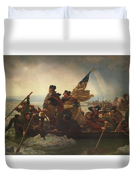 Washington Crossing The Delaware Duvet Cover by War Is Hell Store