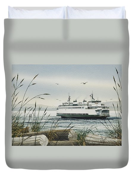 Washington State Ferry Duvet Cover by James Williamson