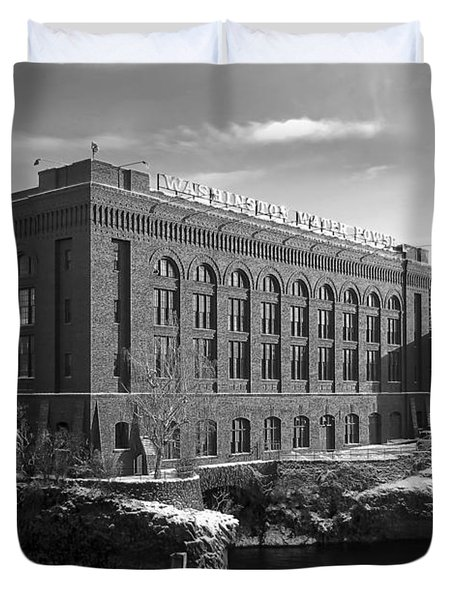 WASHINGTON WATER POWER POST STREET STATION - SPOKANE WASHINGTON Duvet Cover by Daniel Hagerman