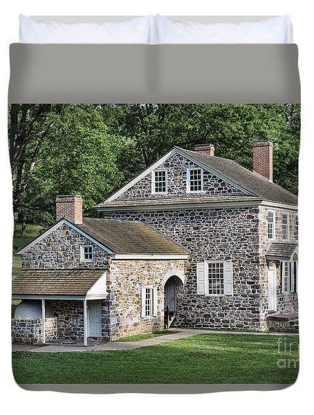 Washington's Headquarters At Valley Forge Duvet Cover by John Greim