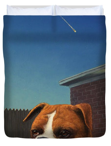 Watchdog Duvet Cover by James W Johnson