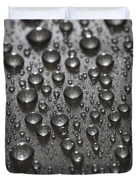 Water Drops Duvet Cover by Frank Tschakert