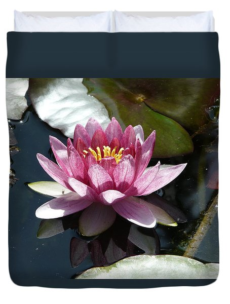 Water Lily 2 Duvet Cover by Valerie Ornstein