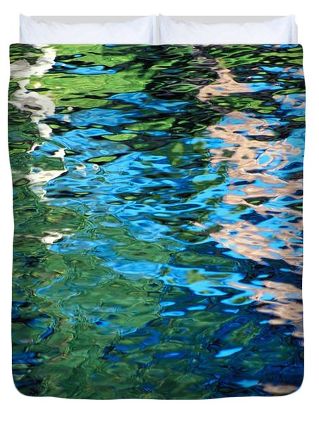 Water Reflections Duvet Cover by Bill Brennan - Printscapes