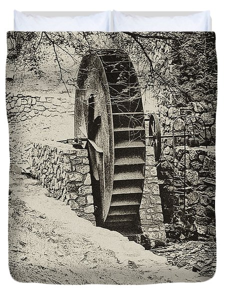Water Wheel Duvet Cover by Bill Cannon