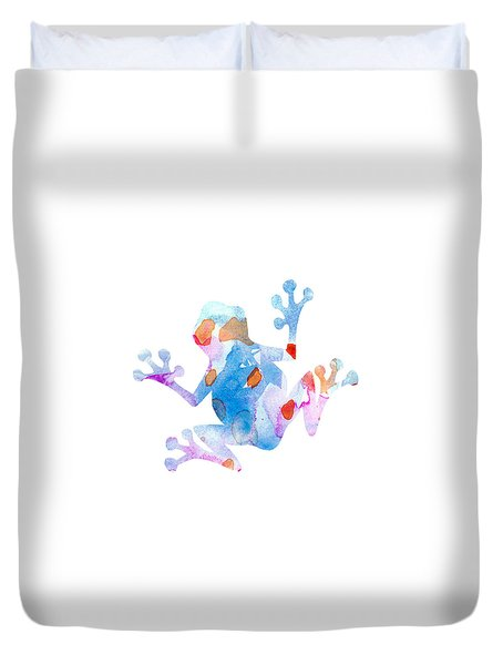 Watercolor Frog Duvet Cover by Nursery Art
