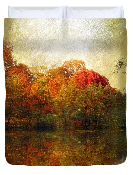 Watercolor Sunset Duvet Cover by Jessica Jenney