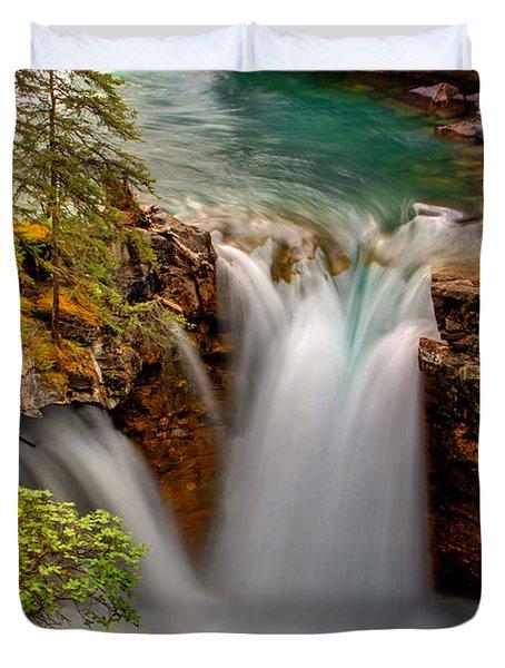 Waterfall Canyon Duvet Cover by Scott Mahon