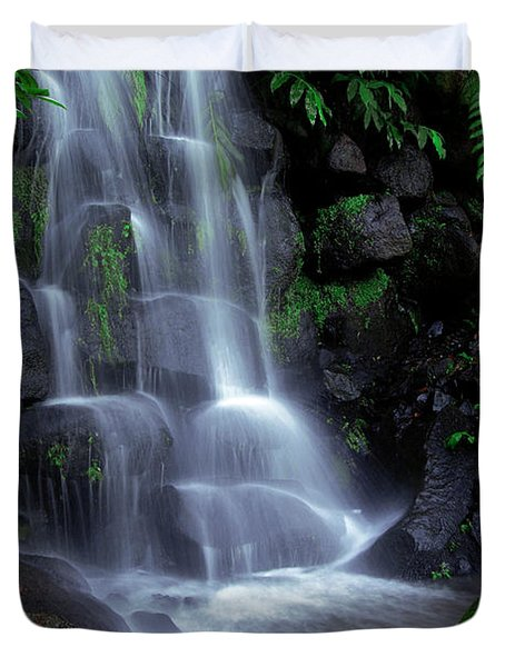 Waterfall Duvet Cover by Carlos Caetano