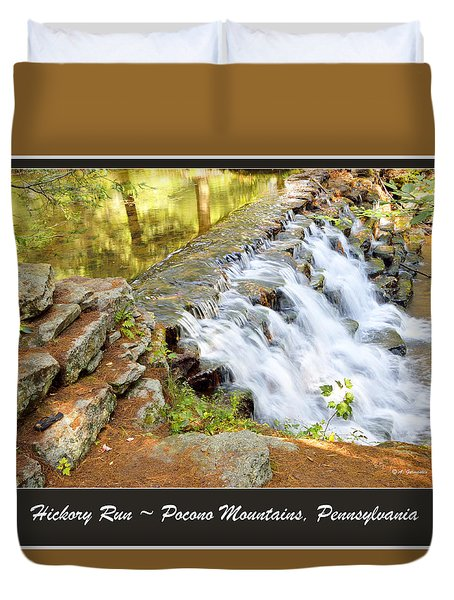 Duvet Cover featuring the photograph Waterfall Pocono Mountains Pennsylvania by A Gurmankin