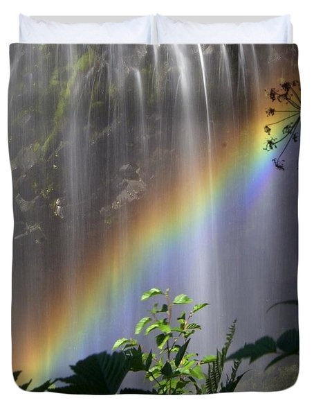 Waterfall Rainbow Duvet Cover by Marty Koch