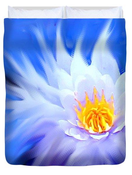 Waterlillies Transformed Duvet Cover by Ian  MacDonald