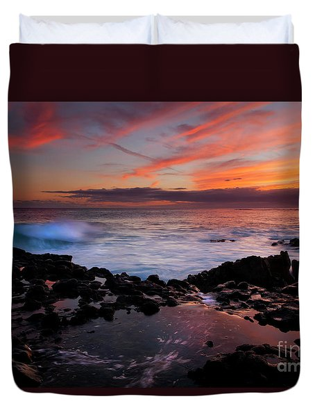 Waves Of Paradise Duvet Cover by Mike  Dawson
