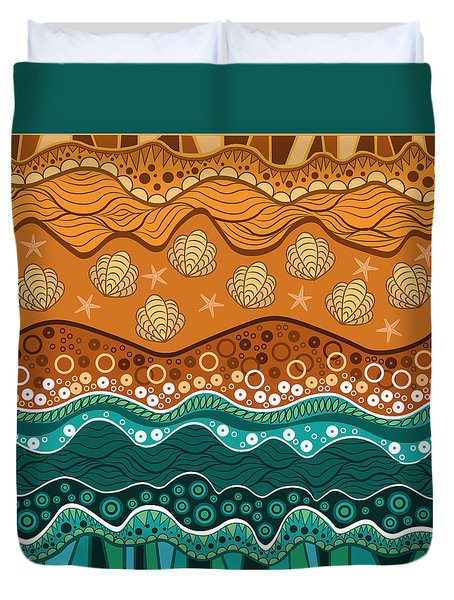 Waves Duvet Cover by Veronica Kusjen