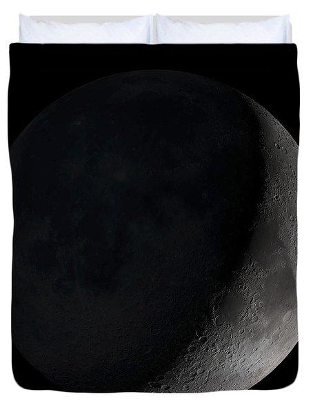 Waxing Crescent Moon Duvet Cover by Stocktrek Images