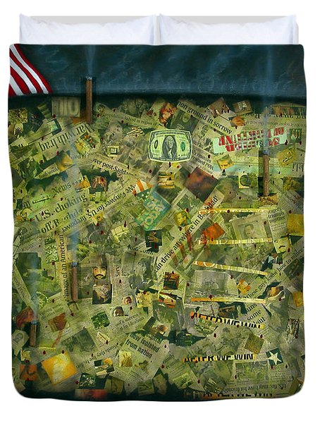 We don't see the whole picture Duvet Cover by James W Johnson