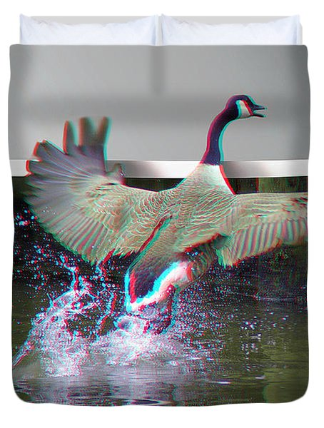 We Have Liftoff - Use Red-cyan 3d Glasses Duvet Cover by Brian Wallace