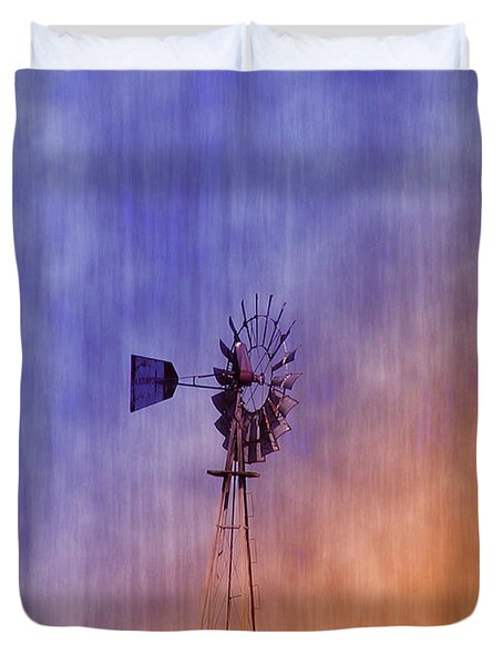 Weather Vane Sunset Duvet Cover by Bill Cannon