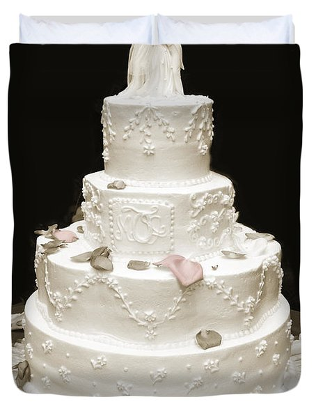 Wedding Cake Petals Duvet Cover by Marilyn Hunt