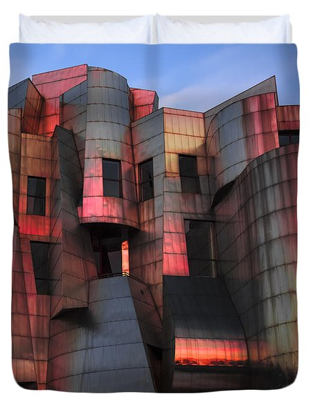 Weisman Art Museum At Sunset Duvet Cover by Craig Hinton