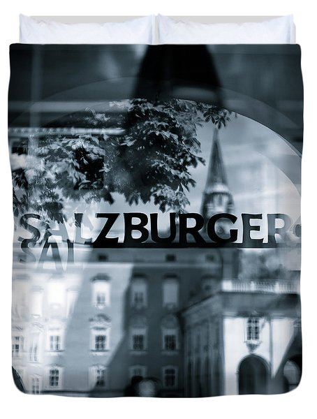 Welcome To Salzburg Duvet Cover by Dave Bowman
