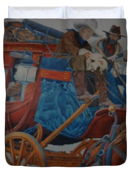 Wells Fargo Stagecoach Duvet Cover by Rob Hans