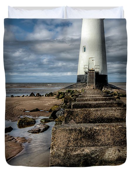 Welsh Lighthouse  Duvet Cover by Adrian Evans