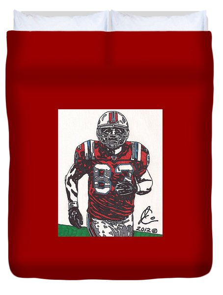 Wes Welker Duvet Cover by Jeremiah Colley