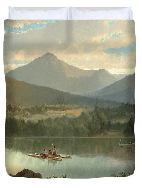 Western Landscape Duvet Cover by John Mix Stanley