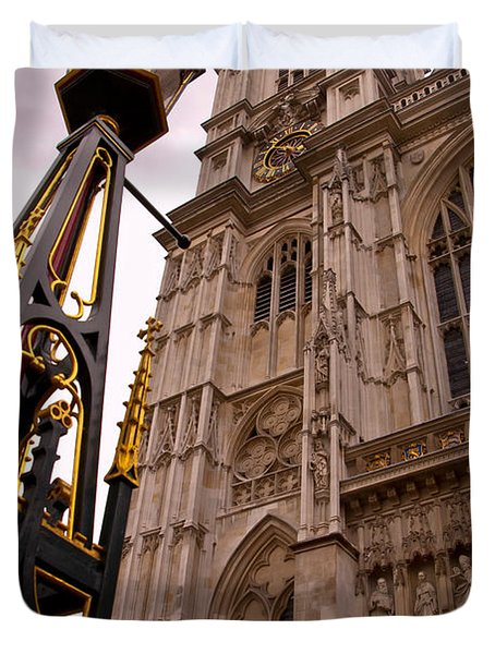 Westminster Abbey London England Duvet Cover by Jon Berghoff