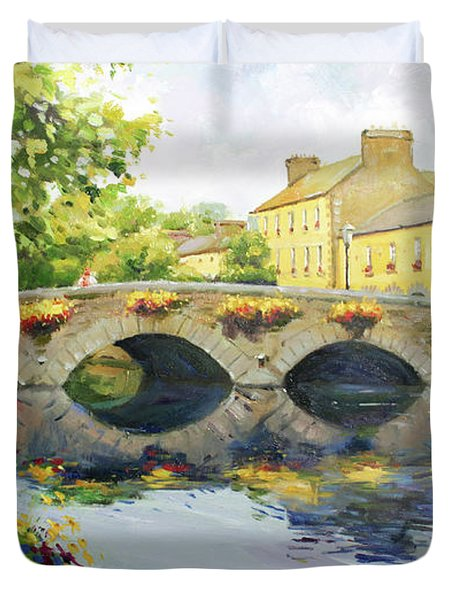 Westport Bridge County Mayo Duvet Cover by Conor McGuire